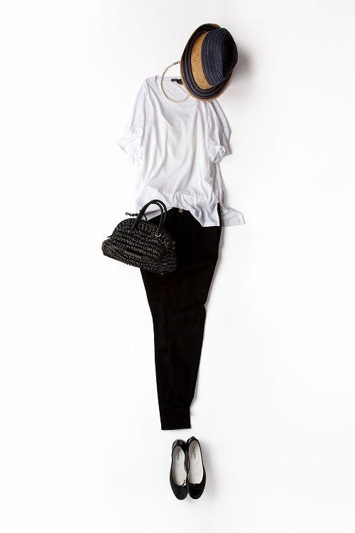 コーディネート詳細(小物を変えてより気品を意識したブラック&ホワイトその2)| Kyoko Kikuchi's Closet|菊池京子のクローゼット