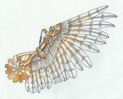 (steampunk)+Tattoo+Designs | Pin Steampunk Wings Tattoo By Shoutai Cross Tattoos With on Pinterest