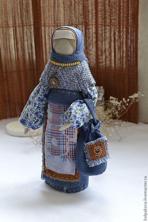"""Купить кукла Успешница""""Лесная фиалка"""". - тёмно-синий, народная кукла, успешница, народная традиция, подарок"""
