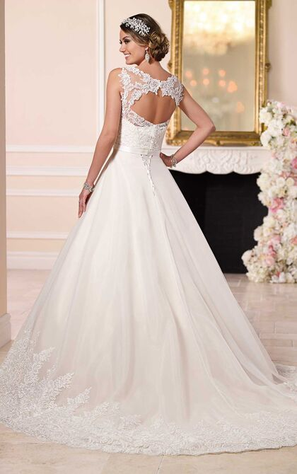 A Line Wedding Gowns by Stella York. A Line Wedding Dresses available at Bridal Collections by Stella.
