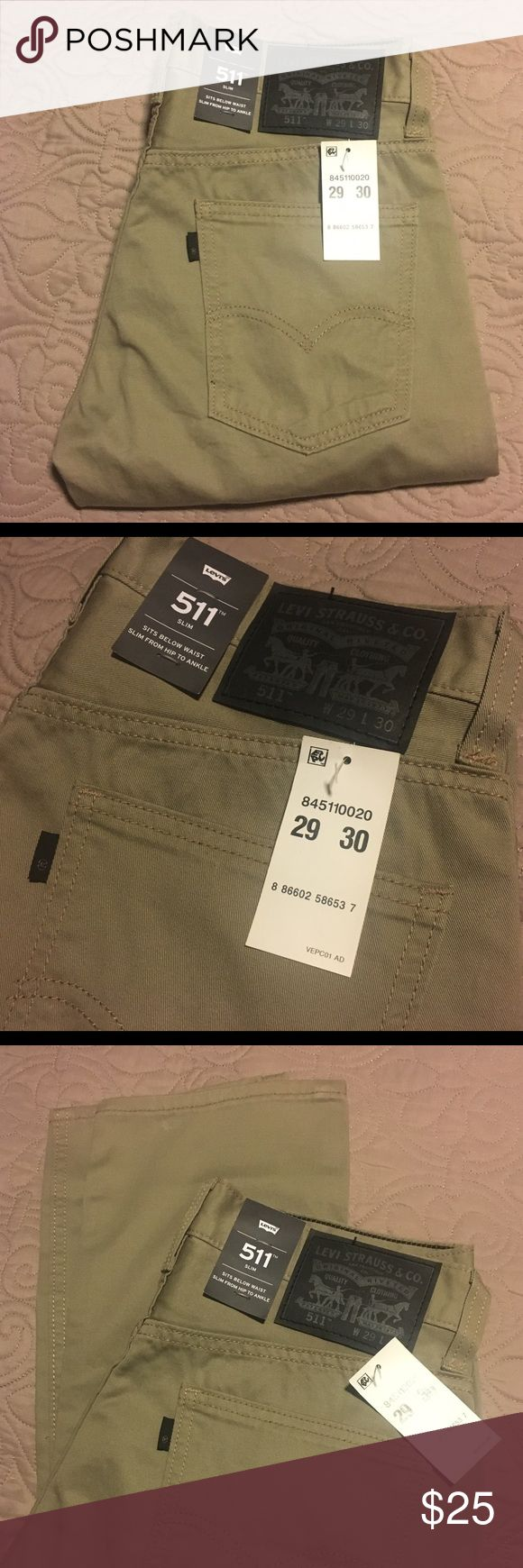 Levi's slim fit 511 Khakis NEW 29 x 30 Brand new with tags. Slim fit khakis Levi's Pants Chinos & Khakis