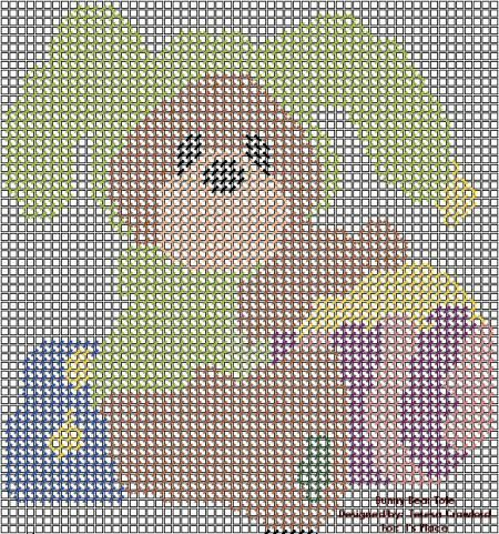 Plastic canvas Easter Bunny pattern 1