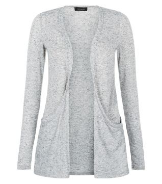 Grey Neppy Boyfriend Cardigan