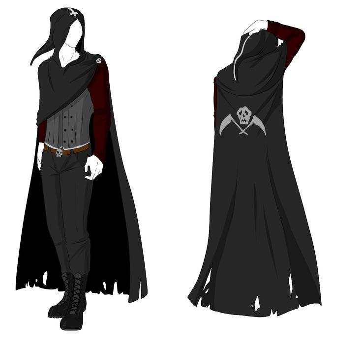 Custom Outfit Adopt - Reaper Cloak by ShadowInkAdopts.deviantart.com on @deviantART