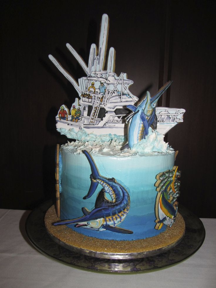 177 best images about animal fish on pinterest birthday for Fishing birthday cake