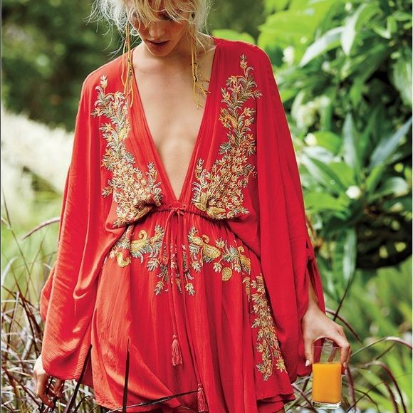 Free People Pretty Pineapple Dress See pic 4 Free People Dresses Mini