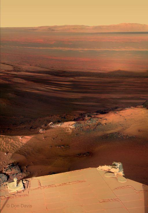 foto da un vecchio robottino impolverato su Marte. fratello di Wall-E