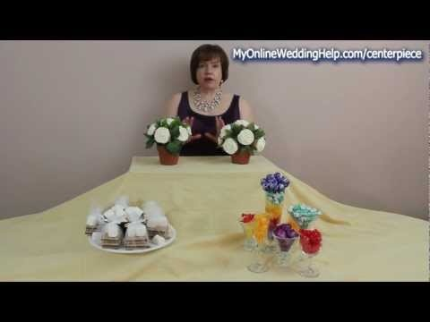 """Ideas for edible centerpieces ... to use as """"mini dessert stations"""" at each table."""