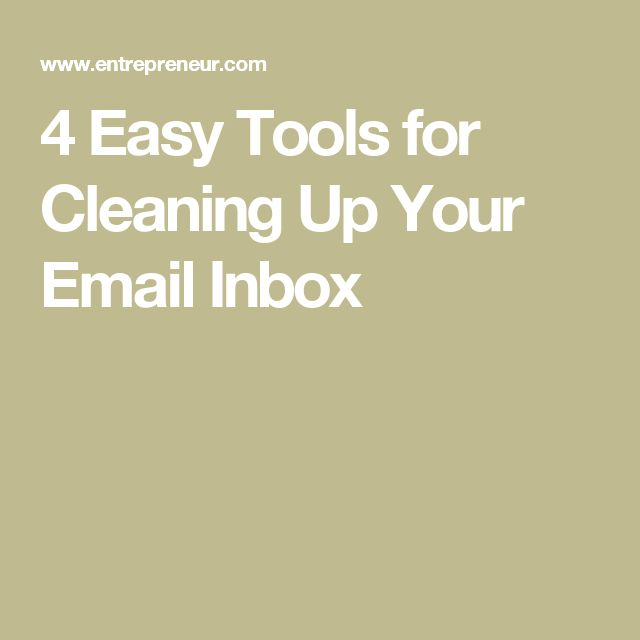 how to clean up your email account