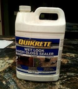 Quikcrete sealer is a  craft paint from craft or department stores, that seals stepping stones for long life n the elements.