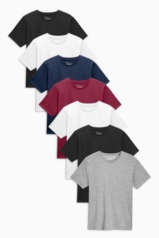 Multi Colour T-Shirts Seven Pack