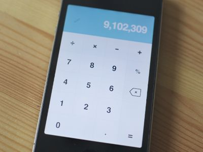 #Flat and #Minimal #UI for iPhone calculator