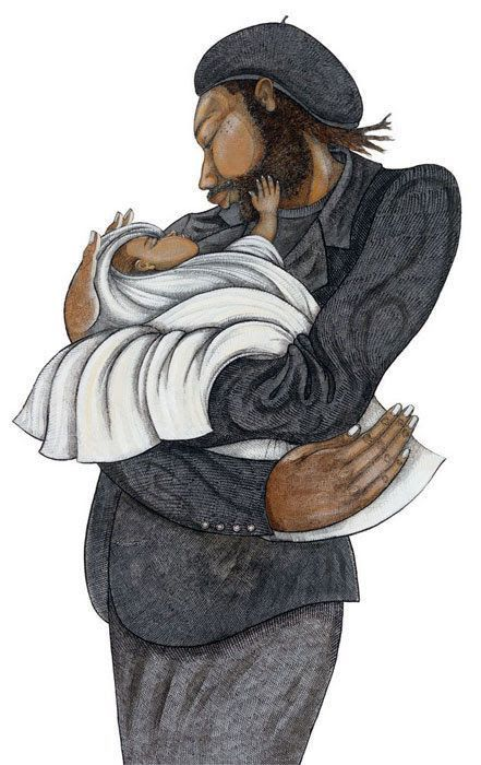"""""""Black Love"""" by Charles Bibbs. A new release from the renowned artist. An intimate release by Bibbs just in time for Father's Day!"""