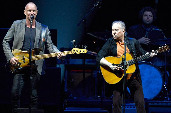 Paul Simon and Sting Merge Voices, Styles in Tour Opener: Live Review | Billboard