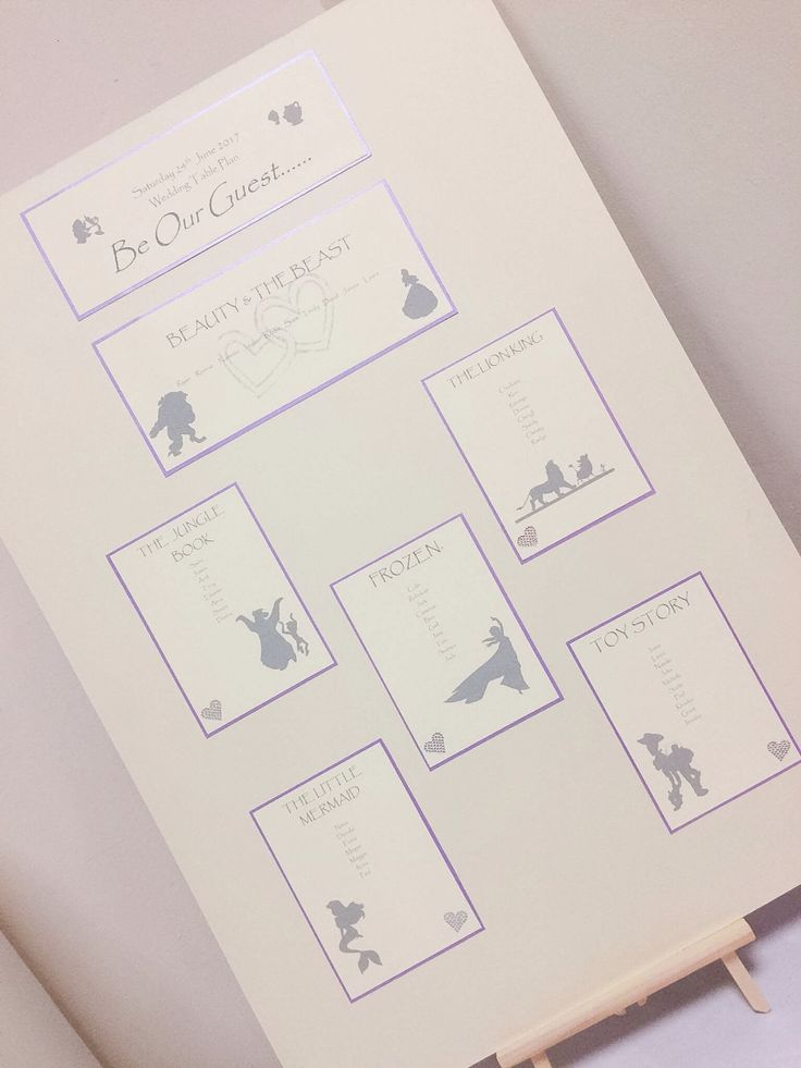 Wedding Table Plan Disney inspired ivory and lilac