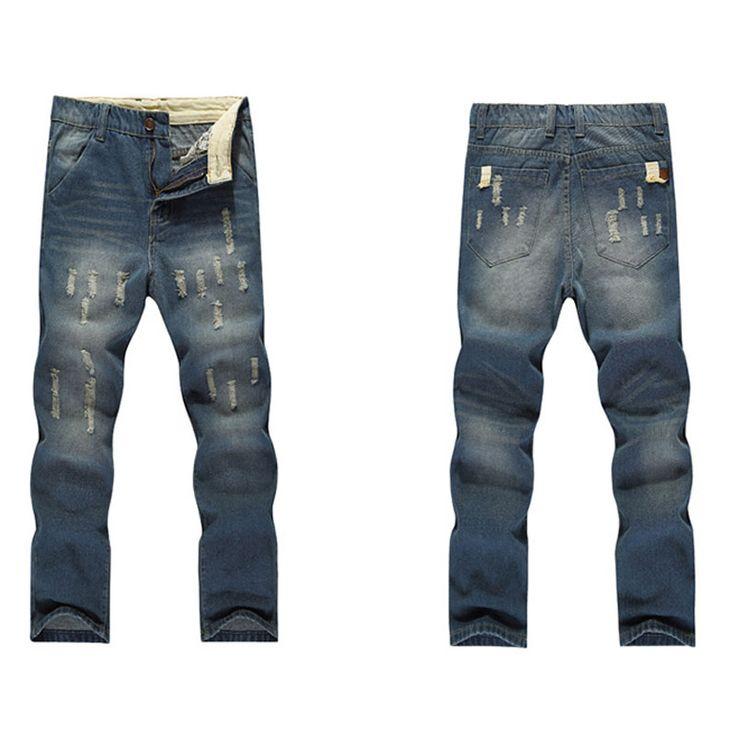Pantalon jean taille haute pour homme