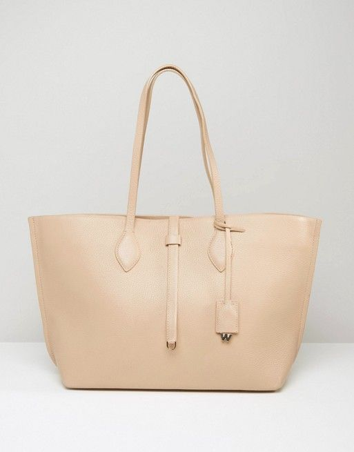Whistles | Whistles Regent Leather Tote Bag in Nude