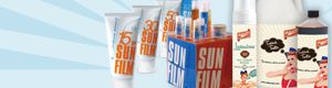 SunFilm - one of the most fabulous product ranges on the market, goes up to SPF50 (well that is what it says on the product, but it is more like SPF55+). The range has a great after care range too, it's non-greasy, parabens free and is ideal for the guys as well as the girls and great for children too. It is a non-sticky gel or cream. Great after an AHA peel or whitening treatments, it protects the skin where the skin layers/pigments have been removed.  A must in everybody's holiday kit!