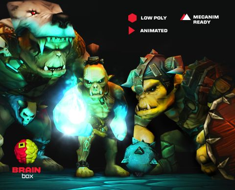 Orc Pack / Animated / Low Poly https://www.assetstore.unity3d.com/en/#!/content/19078