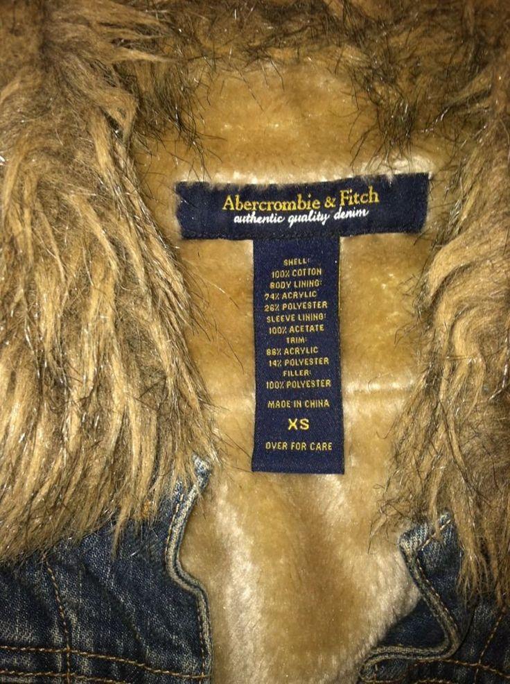 Authentic Quality Abercrombie & Fitch denim coat/jean,sz XS,100%cotton #AbercrombieFitch #JeanJacketcoat