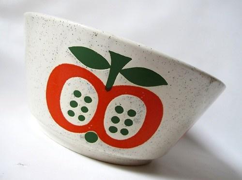 70s german apple bowl