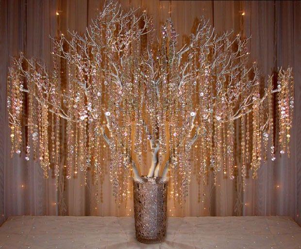 Branch & Crystal Centerpiece