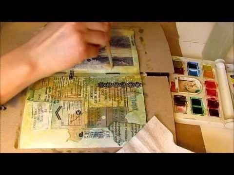 Art Journal Process: Layering - YouTube