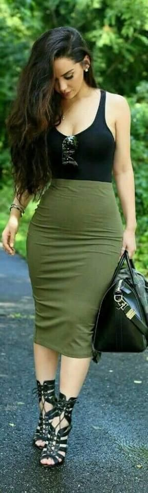 Vestidos y faldas estilo lápiz, súper sensuales