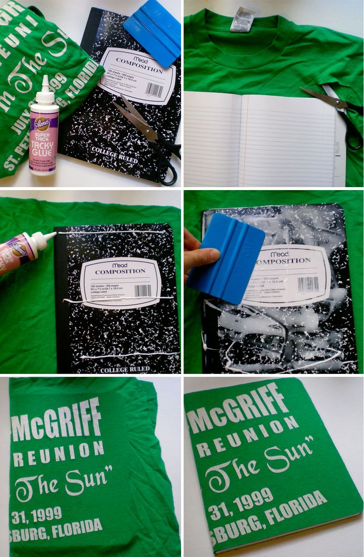 Cool upcycled t-shirt notebooks