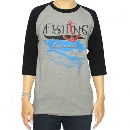 "Kaos Mancing IFT ""FISHING LEGEND (GREY)"""