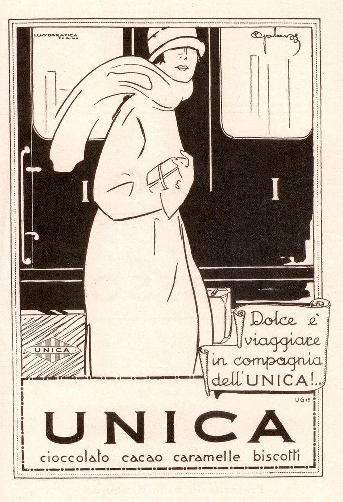 Pubblicità originale Anni 30 CARAMELLE UNICA advertising werbung reklame vintage