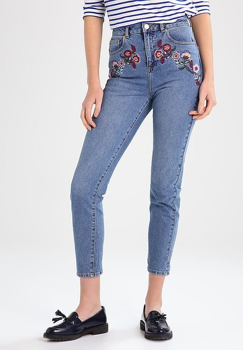 Miss Selfridge Jeans Relaxed Fit - mid denim - Zalando.de
