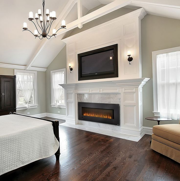 Master Bedroom Design Ideas: Large Electric Fireplace Insert