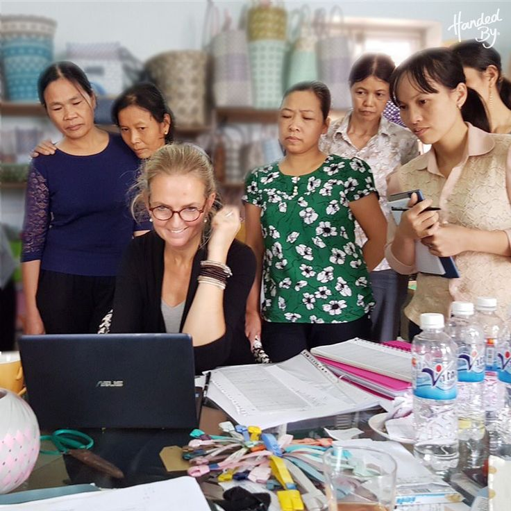 Discussing the new Autumn/Winter 2017 collection with our valuable handcrafters in Hanoi!