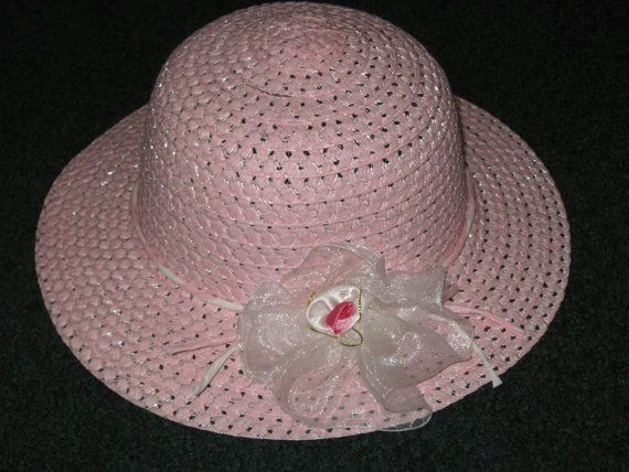 Easter Hats For Little Girls  Pink Easter Hats  by SugarBearHair, $9.00