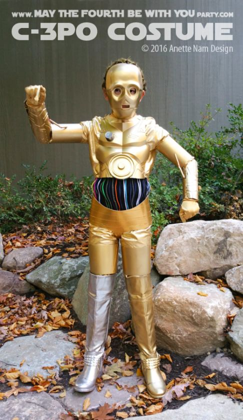 C-3PO DIY Costume and Cosplay / Check out lots more Star Wars Halloween costumes…