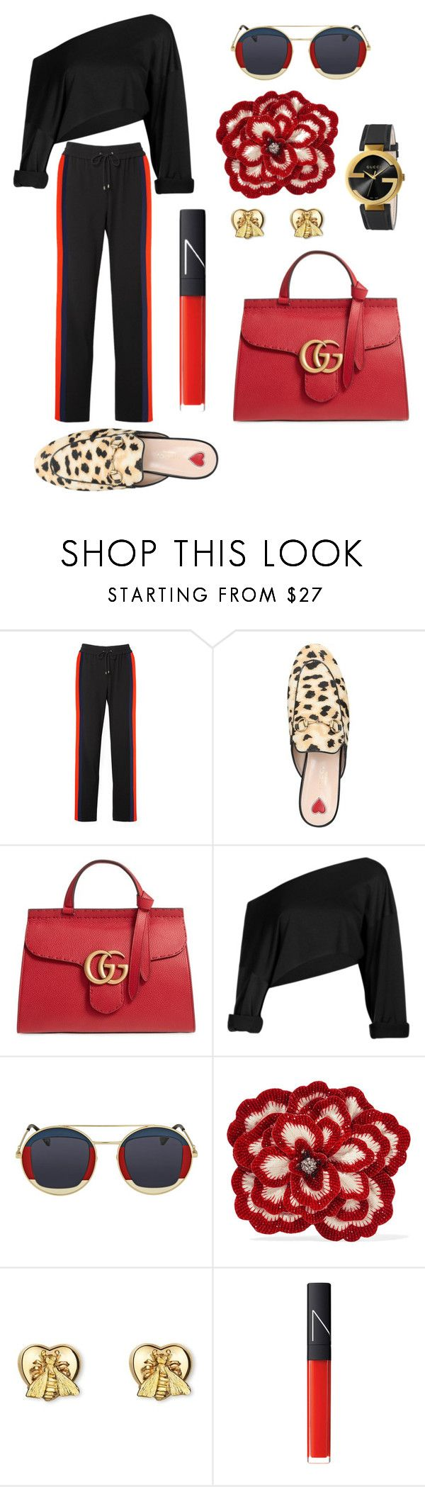 """Brunch DATE!!"" by joyphoenix ❤ liked on Polyvore featuring Kenzo, Gucci and NARS Cosmetics"