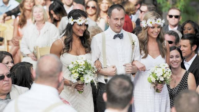 Nikki bella at Brie bella wedding