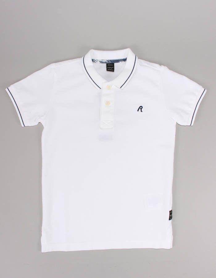 Replay White Small Logo Polo Shirt | Accent Clothing