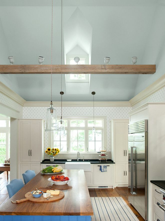 25 best ideas about blue ceilings on pinterest blue for Kitchen ceiling colors