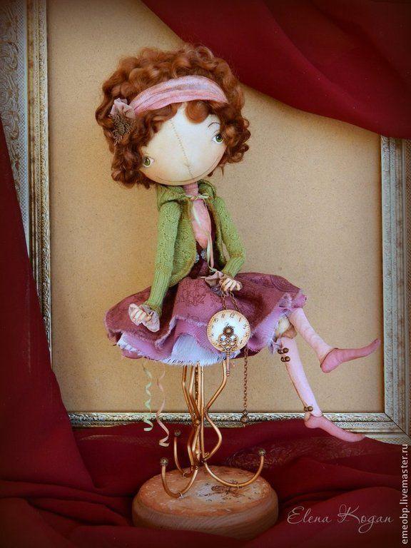 Луиза - разноцветный,Луиза,куклы елены коган,елена коган,стульчик,пуфик