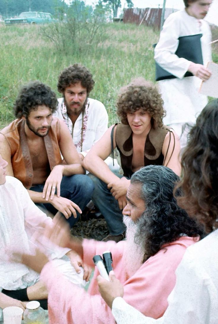best images about woodstock the who sally on left artie kornfield on the right michael lang and swarmi satchidananda
