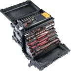Pelican 0450 Series 21 in. 1-Drawer and 2-Storage Compartments and Wheels Mobile Tool Chest, Black