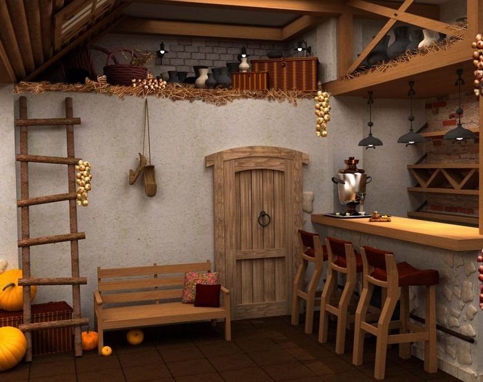 Интересный интерьер в деревенском стиле, станет прекрасным моментом преображения…