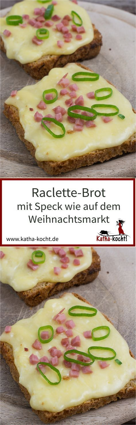 Raclette-Brot mit Speck findet man typischerweise auf dem Weihnachtsmarkt - hier zeige ich euch wie ihr den Klassiker auch ohne großen Käselaib ganz einfach Zuhause machen könnt. Das Rezept gibt es auf katha-kocht!