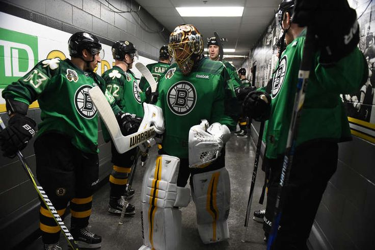 BOSTON, MA - MARCH 11: Tuukka Rask #40 of the Boston Bruins leads the team out for warm ups before the game against the Philadelphia Flyers at the TD Garden on March 11, 2017 in Boston, Massachusetts. (Photo by Brian Babineau/NHLI via Getty Images)