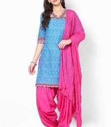 Buy Magenta Solid Patiala Salwar With Dupatta - PAT5 punjabi-suit online