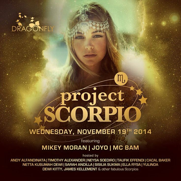 ARE U SCORPIO ?  Come all and celebrate your birthday with our tradition birthday on the dance floor with huge cakes !!  WEDNESDAY, NOVEMBER 19  at DRAGONFLY  Celebrate your birthday bash with :  MIKEY MORAN JOYO MC BAM  INFO & RSVP 0857 1080 0003