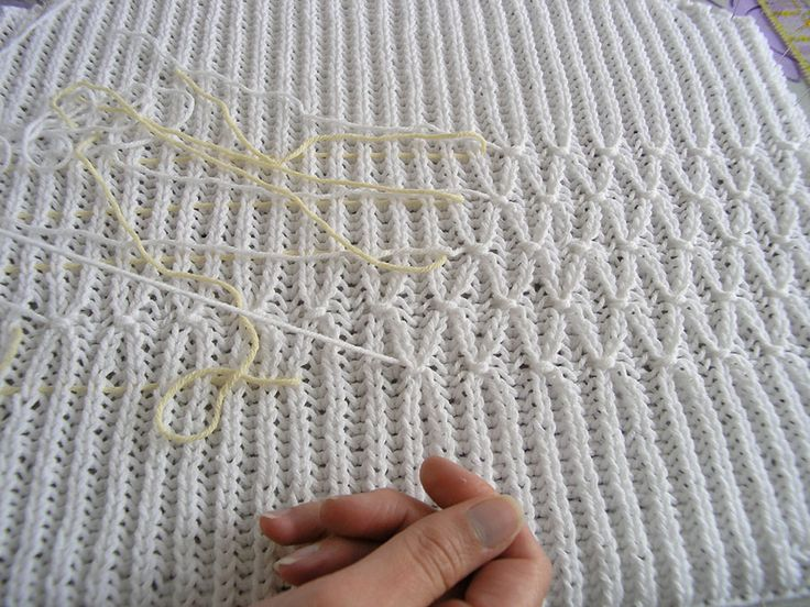 Smocking on a Brioche Rib Knit tutorial