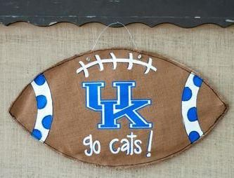 how+to+make+a+burlap+football+door+hanger | UK Football Burlap Door Hanger